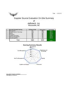 deBotech Source Evaluation Summary